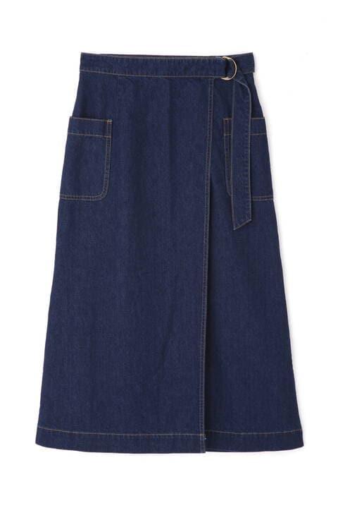 【先行予約7月下旬-8月上旬入荷予定】アシメラップデニムスカート