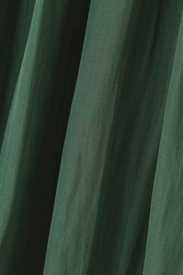 [洗える]サテンギャザーミディースカート