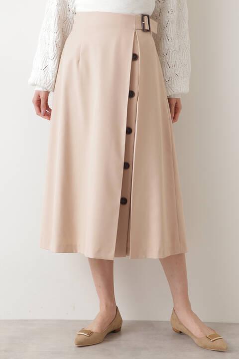 アシメボタンフレアスカート