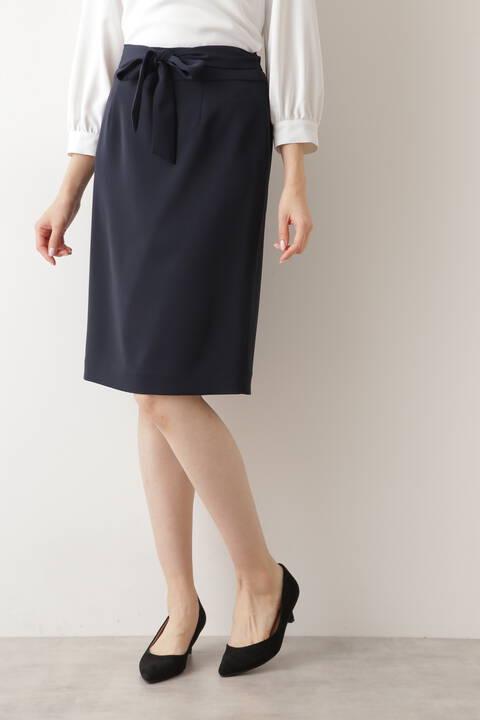 [洗える/防シワ]ポリエステルドビースカート
