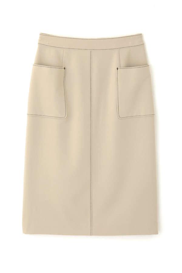 バイカラーステッチスカート