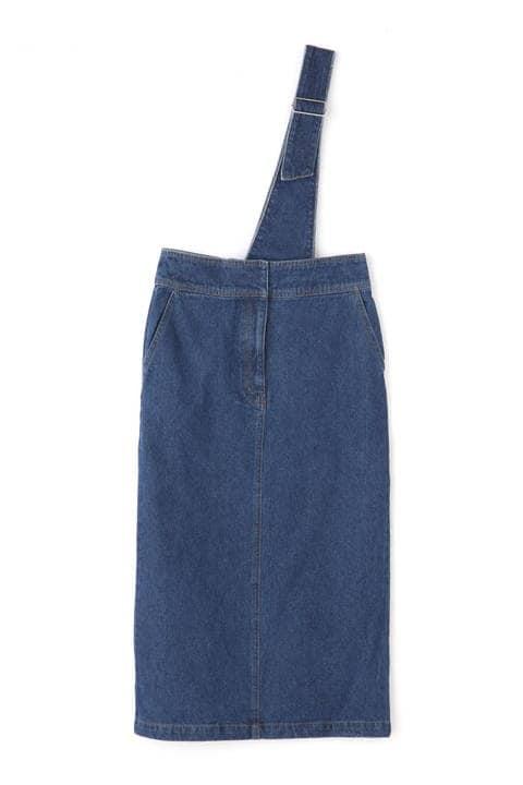 【先行予約12月上旬-中旬入荷予定】アシメサスペンダースカート