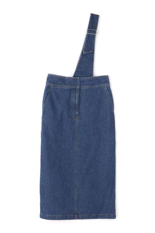 [洗える]アシメサスペンダースカート