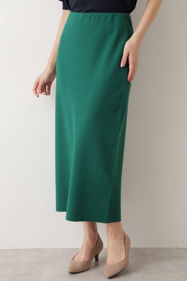 [洗える]ミラノリブタイトスカート
