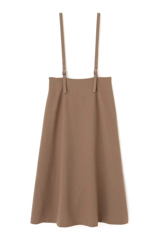 【公式/NATURAL BEAUTY BASIC】[洗える]サスペンダー付きスカート/女性/ブルースカート/ブラウン/サイズ:S/ポリエステル 75% レーヨン 18% ポリウレタン 7%