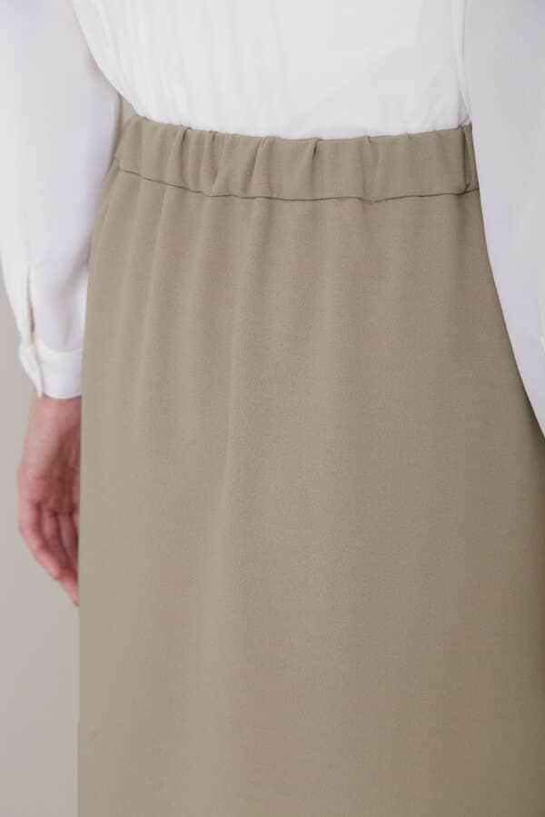 [洗える]カットジョーゼットセットアップ スカート