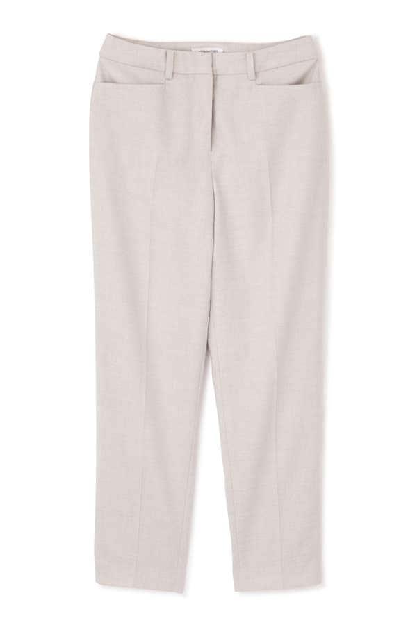 [洗える]リネン混ドビーセットアップ パンツ