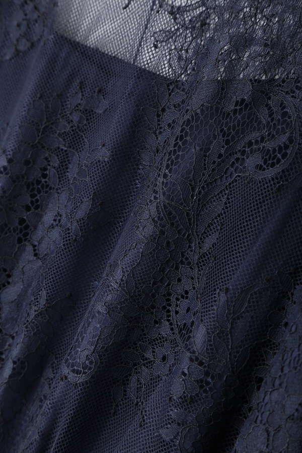 [nbb decor]バイカラースカラレースドレス
