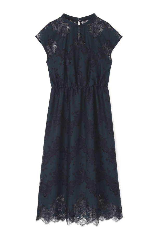 [nbb decor]バイカラーレースドレス