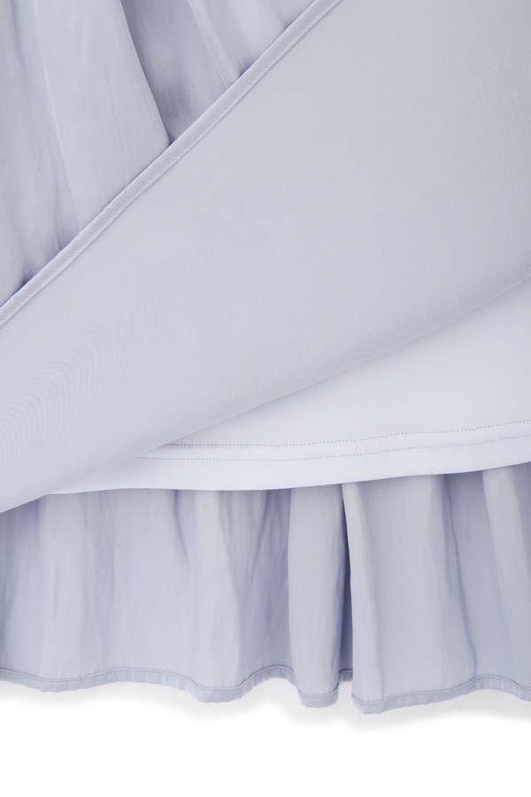 [nbb decor / 洗える]サテンギャザードレス