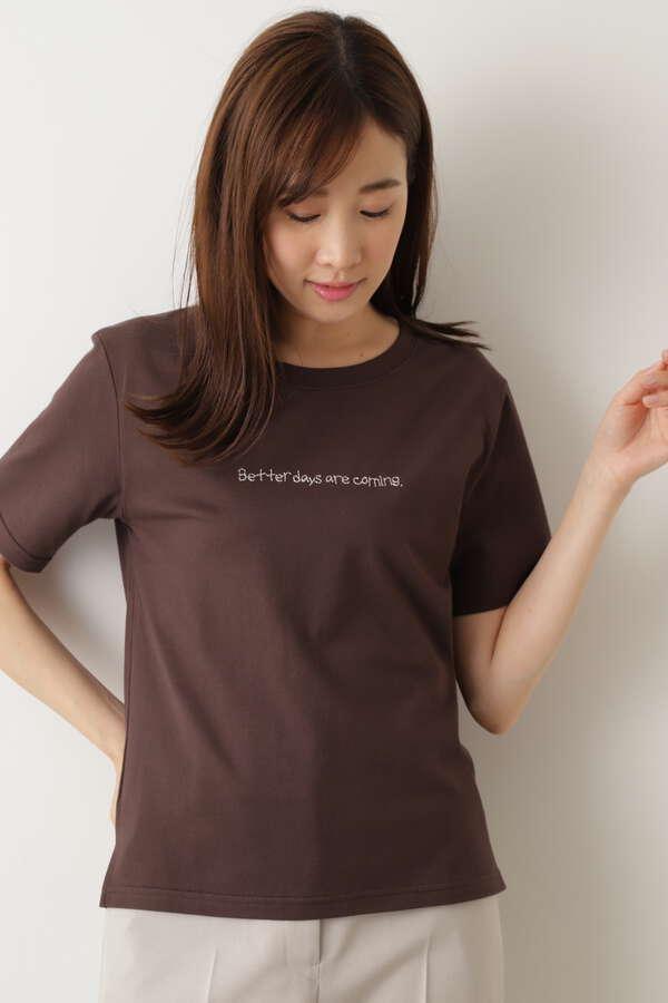 刺繍ロゴ半袖Tシャツ