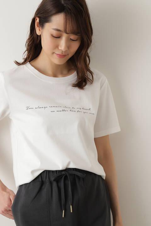【先行予約5月上旬-中旬入荷予定】ニュアンスロゴ半袖Tシャツ