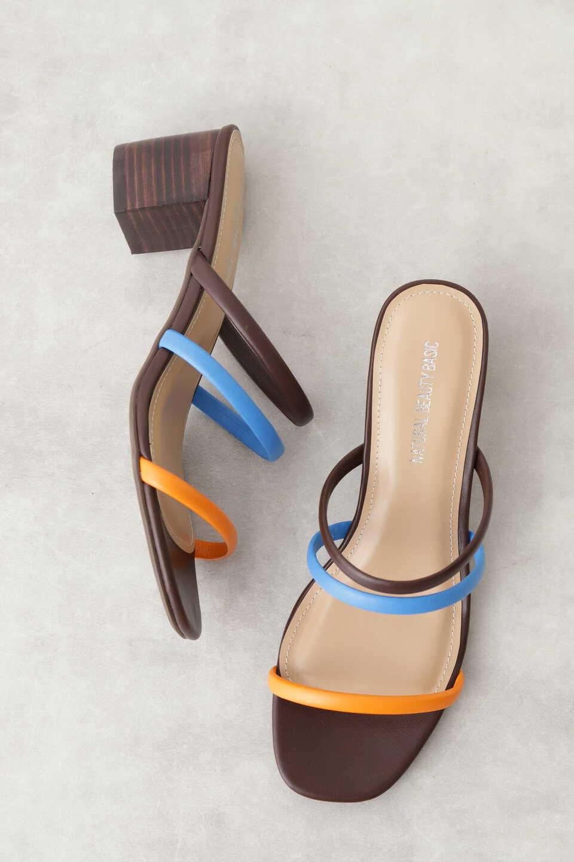 【公式/NATURAL BEAUTY BASIC】トリプルストラップミュール/女性/靴・サンダル・ミュール/オレンジ/サイズ:S/(甲皮の使用材)合成皮革(底材の種類)合成底
