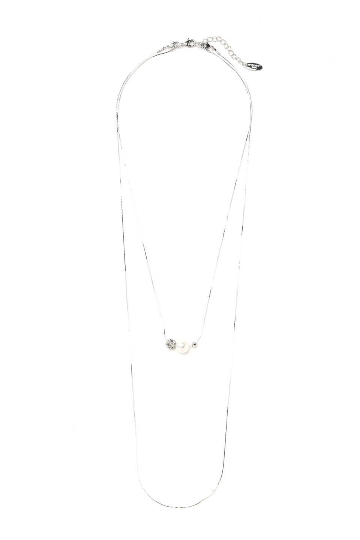 【公式/NATURAL BEAUTY BASIC】ボールミックス2連2WAYネックレス/女性/ネックレス・ブレスレット/シルバー/サイズ:/