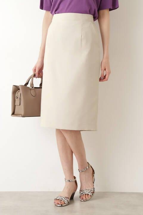 [洗える]ウェザーストレッチセットアップ スカート