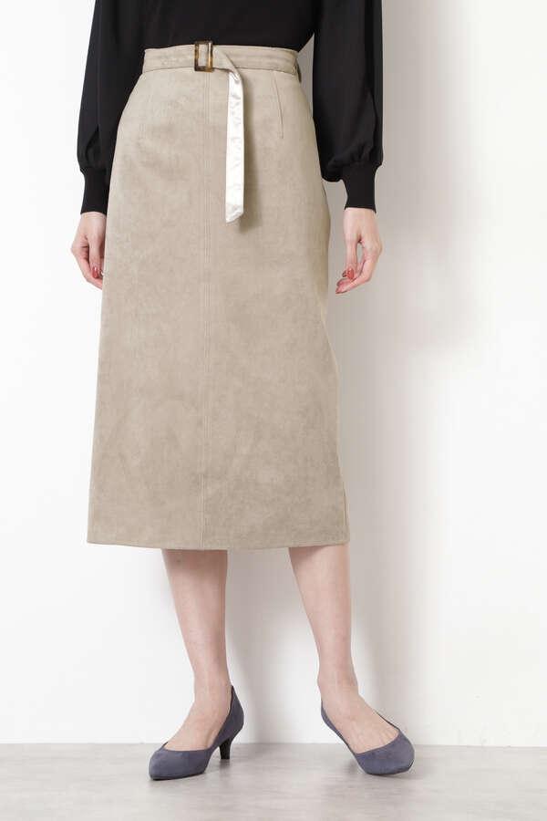 [洗える]フェイクスエードスカート