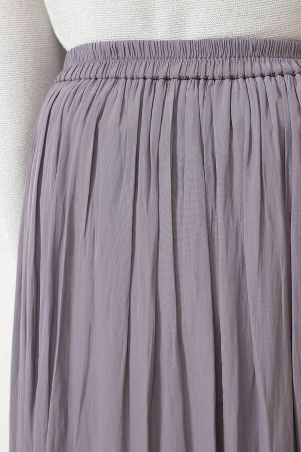 [洗える]サテンギャザーミディスカート