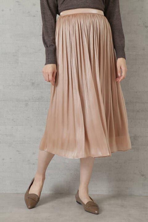 [洗える]シャイニーシアーギャザースカート