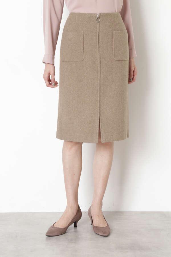 ウールビーバーZIPディテールスカート