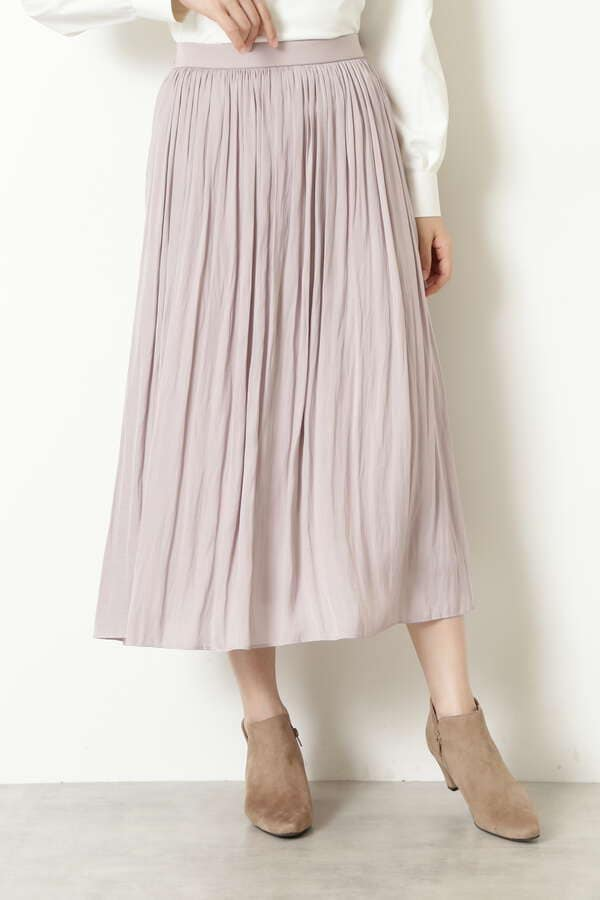 割繊サテンギャザースカート