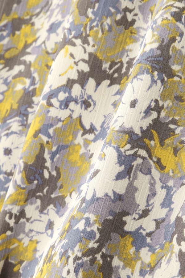 [洗える]ボタニカルフラワープリントスカート
