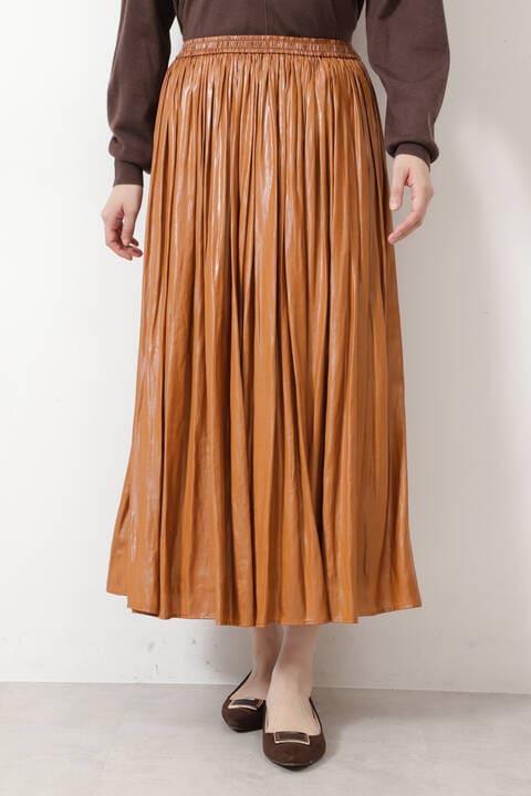 チンツ加工ギャザースカート