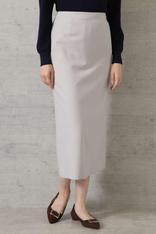 [洗える]ウールライクナロースカート