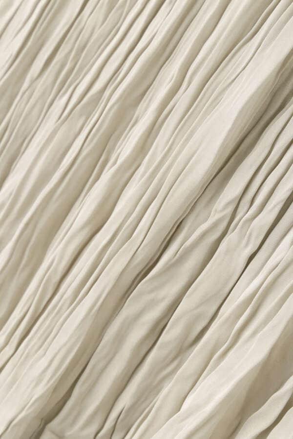 [洗える]サテンプリーツスカート
