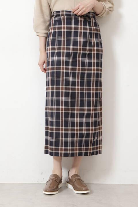 【先行予約9月上旬-中旬入荷予定】チェックナロースカート
