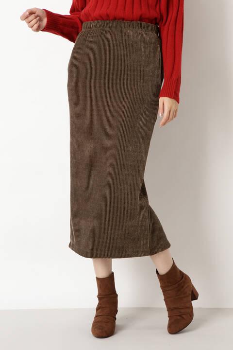 カットコーデュロイスカート