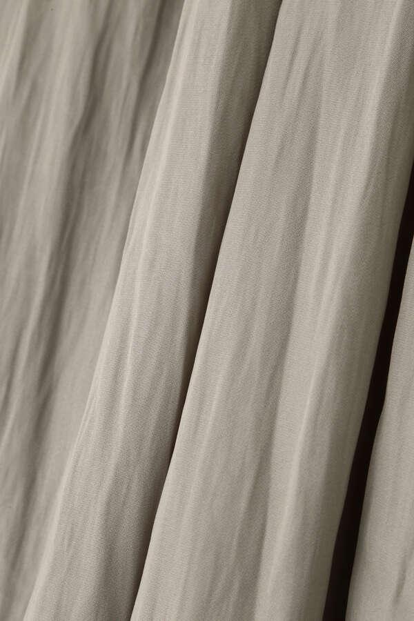 [洗える]割繊サテンギャザーパンツ