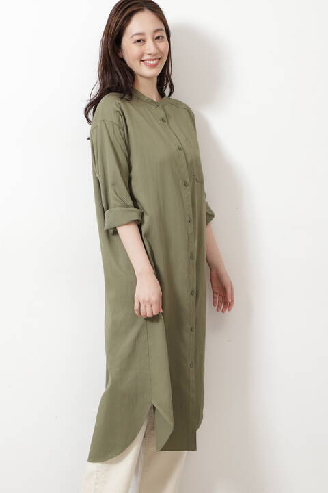 ツイルシャツワンピ