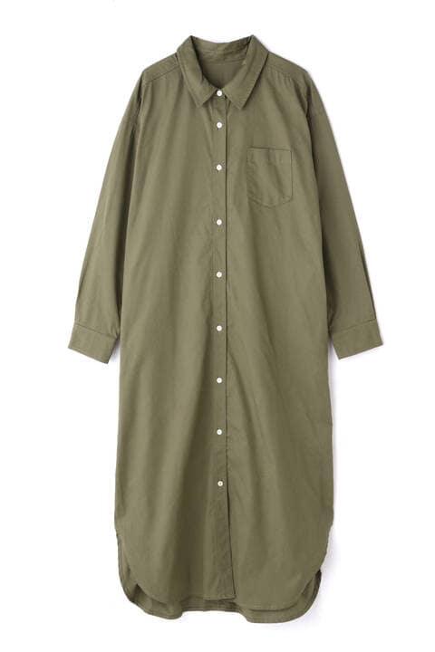[洗える]シャツ羽織りワンピース