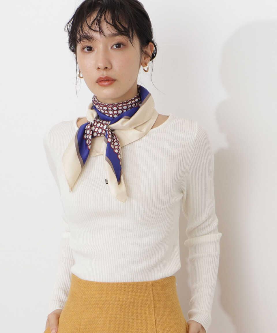 【公式/NATURAL BEAUTY BASIC】レトロビッグスカーフ/女性/マフラー・スカーフ/オフ/サイズ:FR/ポリエステル 100%