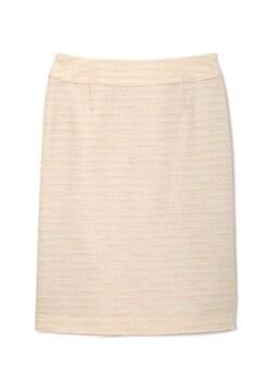 スラブボーダーツィードセットアップスカート