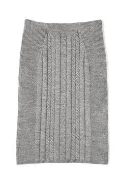 ケーブル×リブニットセットアップニットスカート