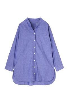 《BLUE》バンドカラ―シャツ