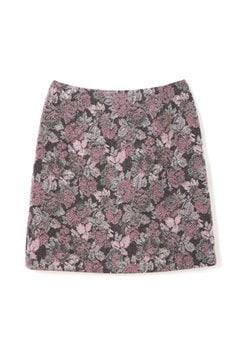 【先行予約_10月中旬入荷予定】メランジフラワージャガードスカート