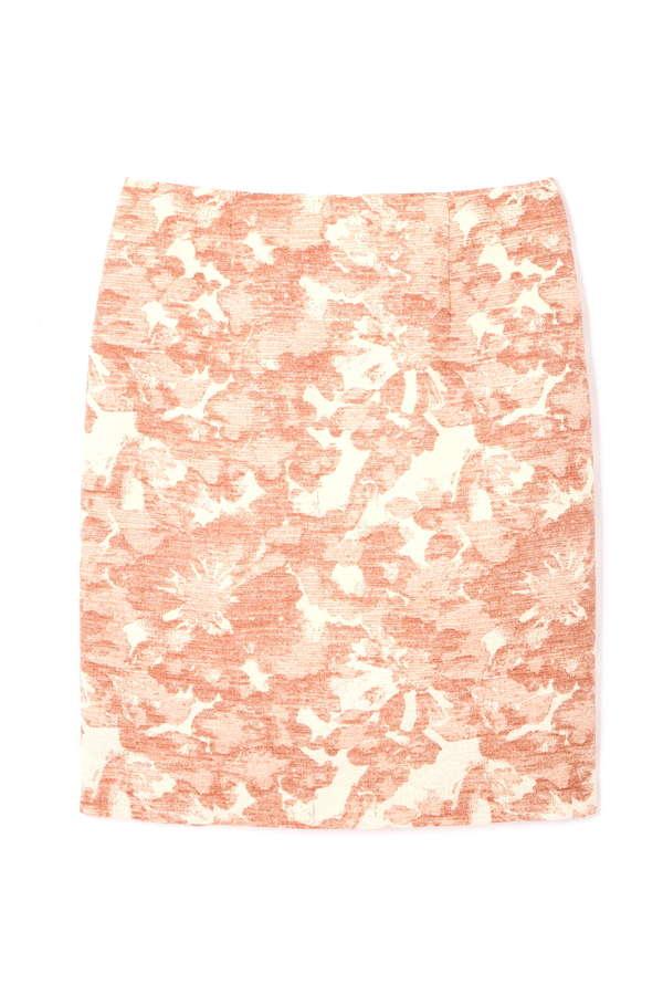 フラワープリントモールジャガードスカート