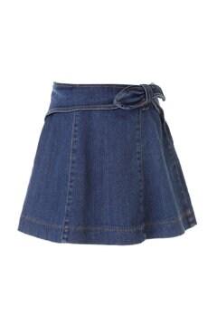 《KIDS》リボンポイントデニムスカート