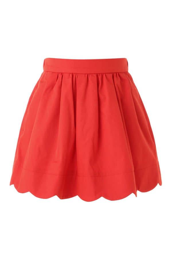 《KIDS》バイオツイルスカラップヘムスカート