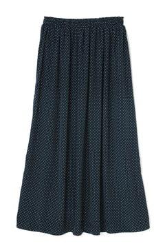《BLUE》ドットプリントスカート