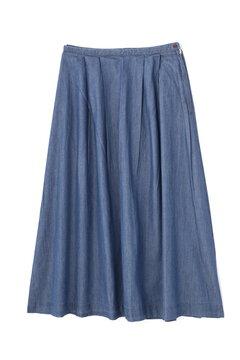《BLUE》デニムタックマキシスカート