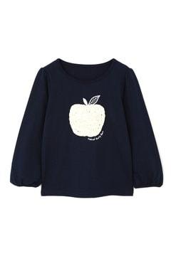 《KIDS》アップルフリルモチーフロンTシャツ