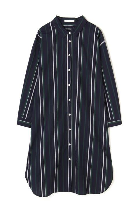 《BLUE》ストライプシャツ羽織