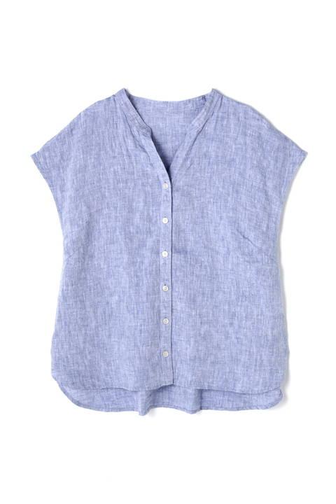 リネンVネックシャツ