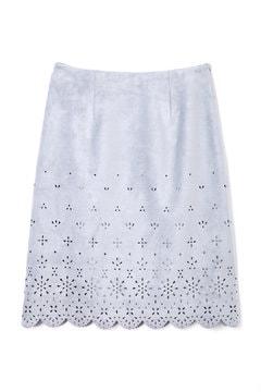 パンチングスエード調スカート