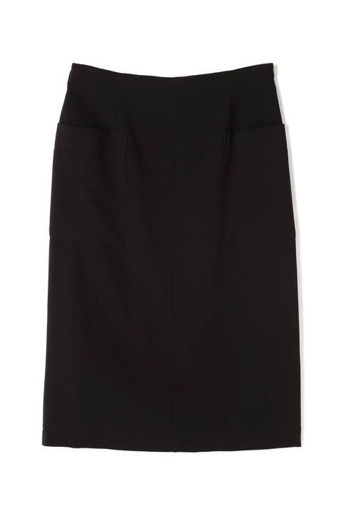 〈ウォッシャブル〉ダブルクロスタイトスカート