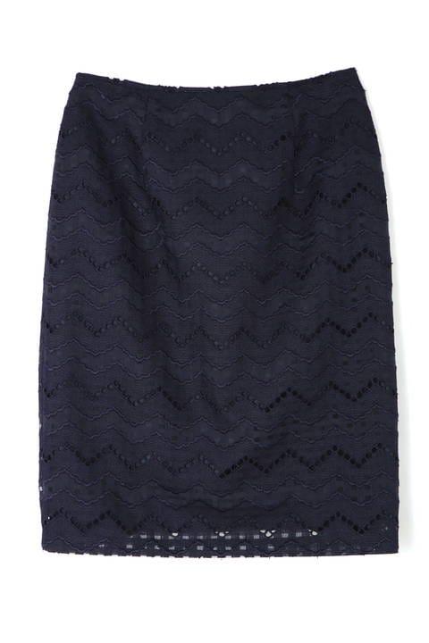 〈ウォッシャブル〉エンブロイダリーレーススカート