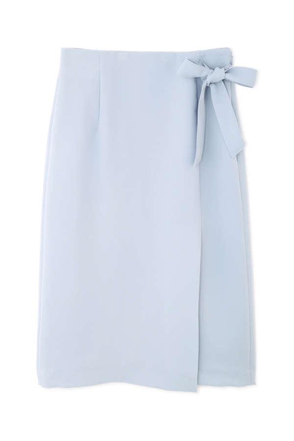【先行予約_4月上-中旬入荷予定】〈ウォッシャブル〉ラップディテールスカート